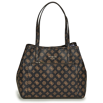 Guess VIKKY ROO TOTE women's Shopper bag in Brown. Sizes available:One size